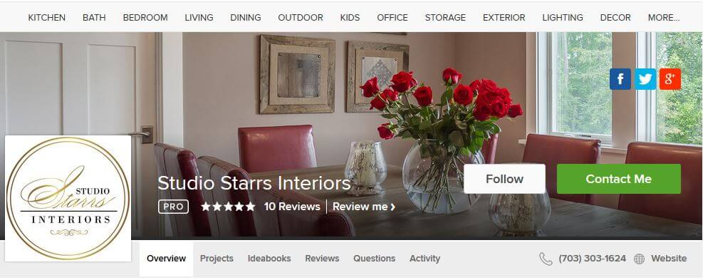 DC Metro Interior Designer: Best of Houzz 2015 in design and customer service